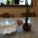 らんぷ亭 - テーブル中央の飴ちゃん