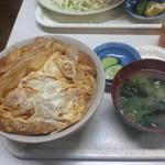 まんぷく食堂 - 勝丼の大(780円)です。2014年6月