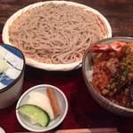 山葵 - 2014.07.21 海老野菜天丼と蕎麦ランチ
