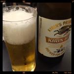 魚ふじ - ビール