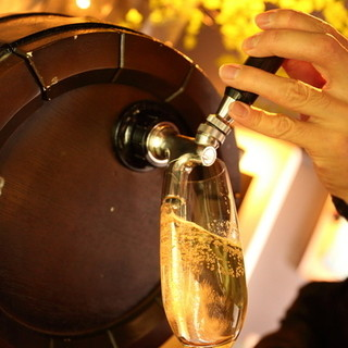樽生スパークリングワイン/世界各国の珍しいビールやスピリッツ