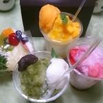 プランタン ブラン - マンゴー、イチゴ、抹茶、かき氷