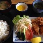 つるや食堂 - 料理写真:つるや食堂 からあげ定食¥700円