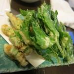 29159079 - 明日葉とネリの天ぷら