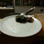 29160128 - 牛タン定食の青高菜漬と南蛮漬