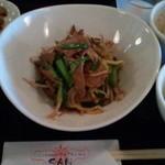 SAN - レバニラ定食702円