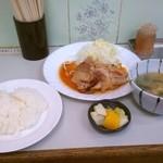 カレーハウスデリー - 生姜焼定食