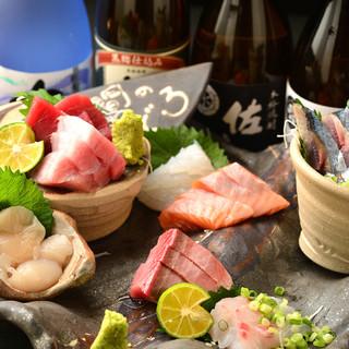 長崎五島と北海道から仕入れるお魚を贅沢に♪
