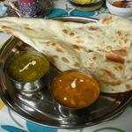 インド料理 ガンディ2 - レディースランチのキーマほうれん草とシーフード