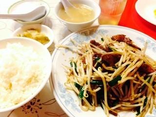 燕来香 - レバニラ炒め定食です