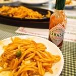 グリル一平 - スパゲティ イタリアンにはタバスコが合う