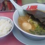 山岡家 - 醬油ラーメン610円+煮卵90円+半ライス110円=810円