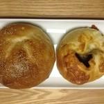 29179735 - 栗のベーグル、カレーチーズパン