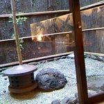 井筒屋 - ふと外をみると、小さなお庭が♪