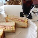 ルーブル - ランチセット、卵トーストとアイスコーヒー/ 880円
