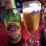 中国家庭料理 楊 - 青島ビール。お代わりもしてしもた(^^;)