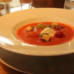 アルマーニ リストランテ銀座 - ランチコース トマトのスープ