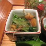 季旬 鈴なり - なめこと水菜のお浸し