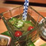 季旬 鈴なり - じゅん菜、オクラ、マイクロトマト