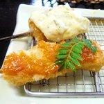 風来屋 - イカに雲丹ソース、鮭タルタルソース