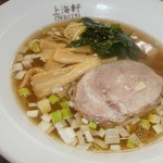 上海軒 - 【2014年7月】ラーメン+炒飯セット(750円)