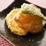 風流カフェ - 野菜の天ぷら。ピーマン、なす、サツマイモ。