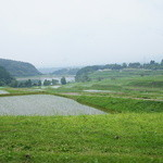 風流カフェ - テラスからの田園風景が美しい・・・。