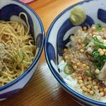 さくら咲く - ニボ端さん 和え玉&ニボ飯