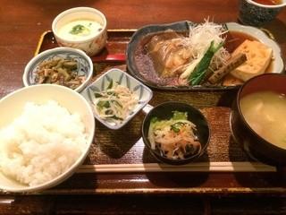 仁松庵 - 煮魚定食1180円