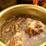 焼肉ホルモン せいご - 3時間煮込んださっぱり自家製テールスープ