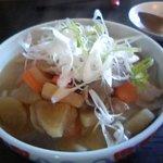 花菜 - 豚肉と根菜の味噌うどん