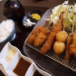 いっしょう - 串揚げ定食750円(税込)【2014.7月】