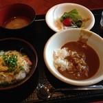 29219503 - 奄美鶏飯・黒豚カレー・さつま汁・アイスコーヒー
