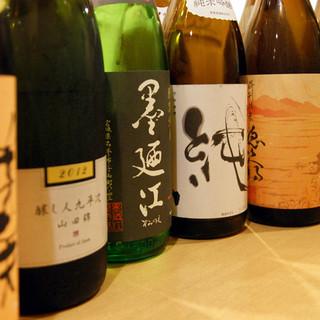 おいしい日本酒を多数ご用意いたしております。