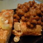 鎌倉山納豆 - ご飯と栃尾揚げにのせていただきました♪