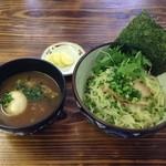 麺魂 - 味玉一六つけそば(冷)800円