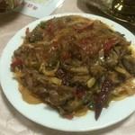 29223804 - ラム肉、春雨と白菜の炒め物