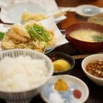 てんぷら 高七 - かき揚げ定食