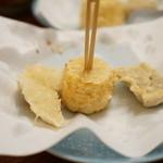 てんぷら 高七 - スルメイカ・玉蜀黍・漬け鮪