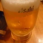串もんてき - 生ビール中一杯目
