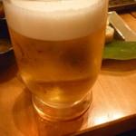 串もんてき - 生ビール中二杯目