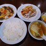 中国料理 慶福楼 - Bはっぽう菜・バンバンジーの定食