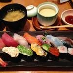 饗庭 - 寿司1.5人前セット    1460円