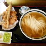 瀬戸内製麺710 - ひやかけ&天ぷらセット(H26.7.20)