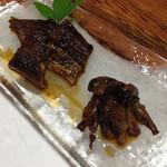 大平 - 鰻蒲焼きと肝焼き。芳ばしくて最高!