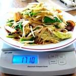 さかさ食堂 - 野菜炒め大盛り:計量図 by ももち