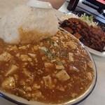 中華飯店青葉 - マーボー丼とんかつ定食(1020円)