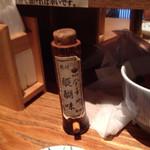 日本橋 天丼 金子半之助 - 山椒が効いた七味