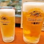 全国珍味・名物 難波酒場 - ドリンク写真:生ビール 中&大