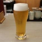 鮨處八千代 - 生ビール(小) 350円。